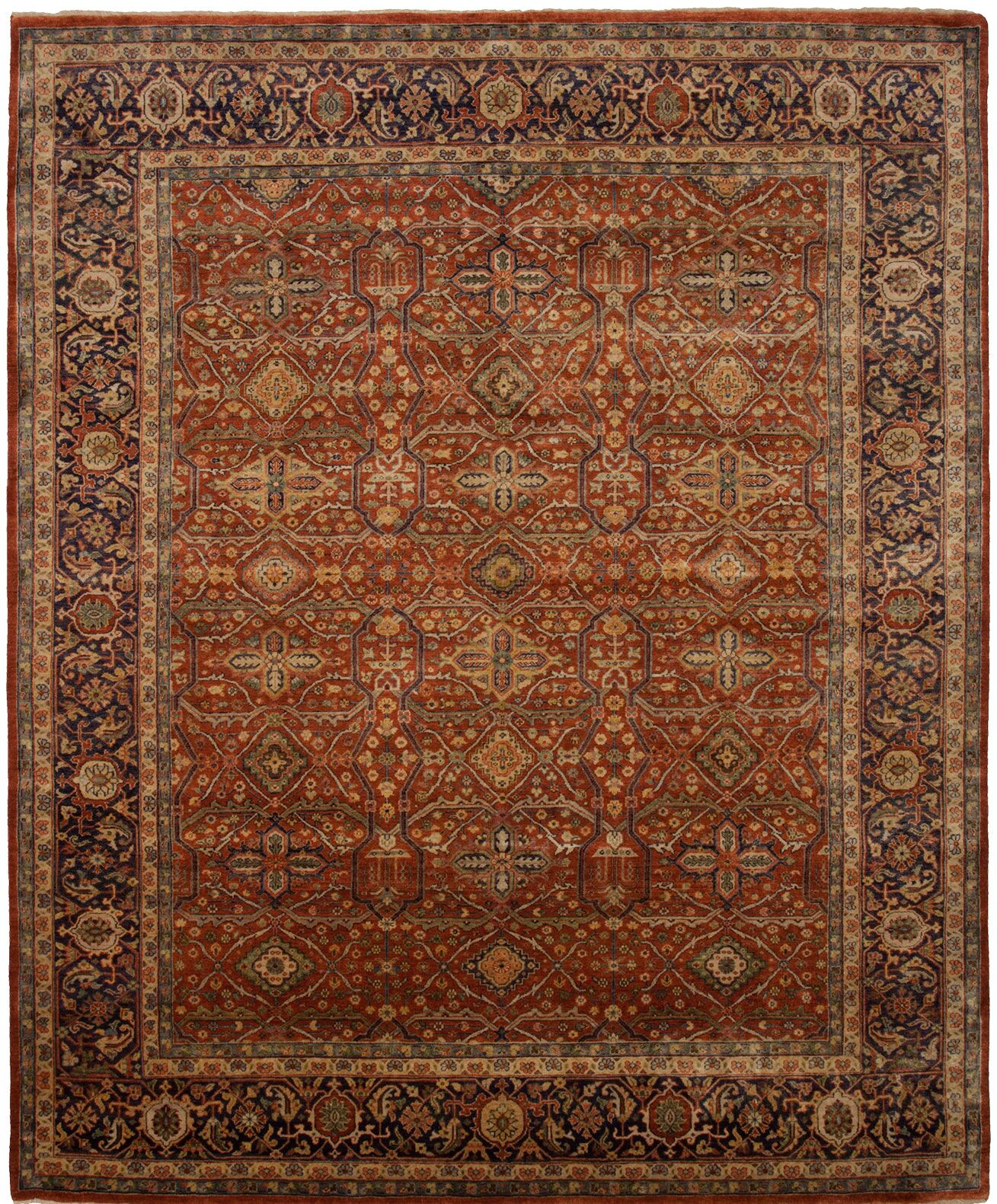 Cambridge Hand-Knotted Red Area Rug Rug Size: 8' x 10'