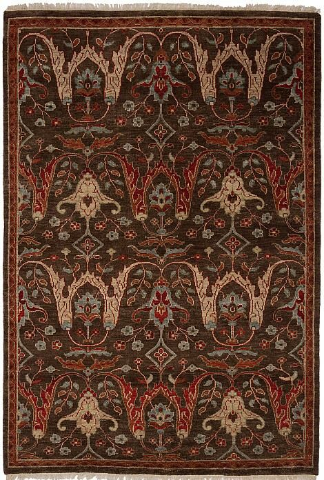 Tucson Hand-Knotted Brown Area Rug Rug Size: 2' x 3'