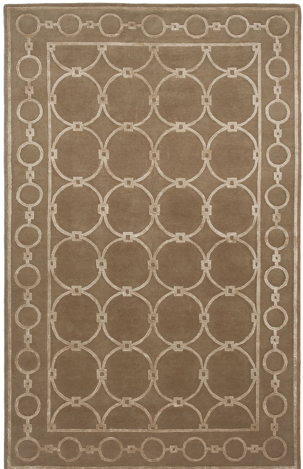 Broadway Hand-Knotted Brown Area Rug Rug Size: 4' x 6'