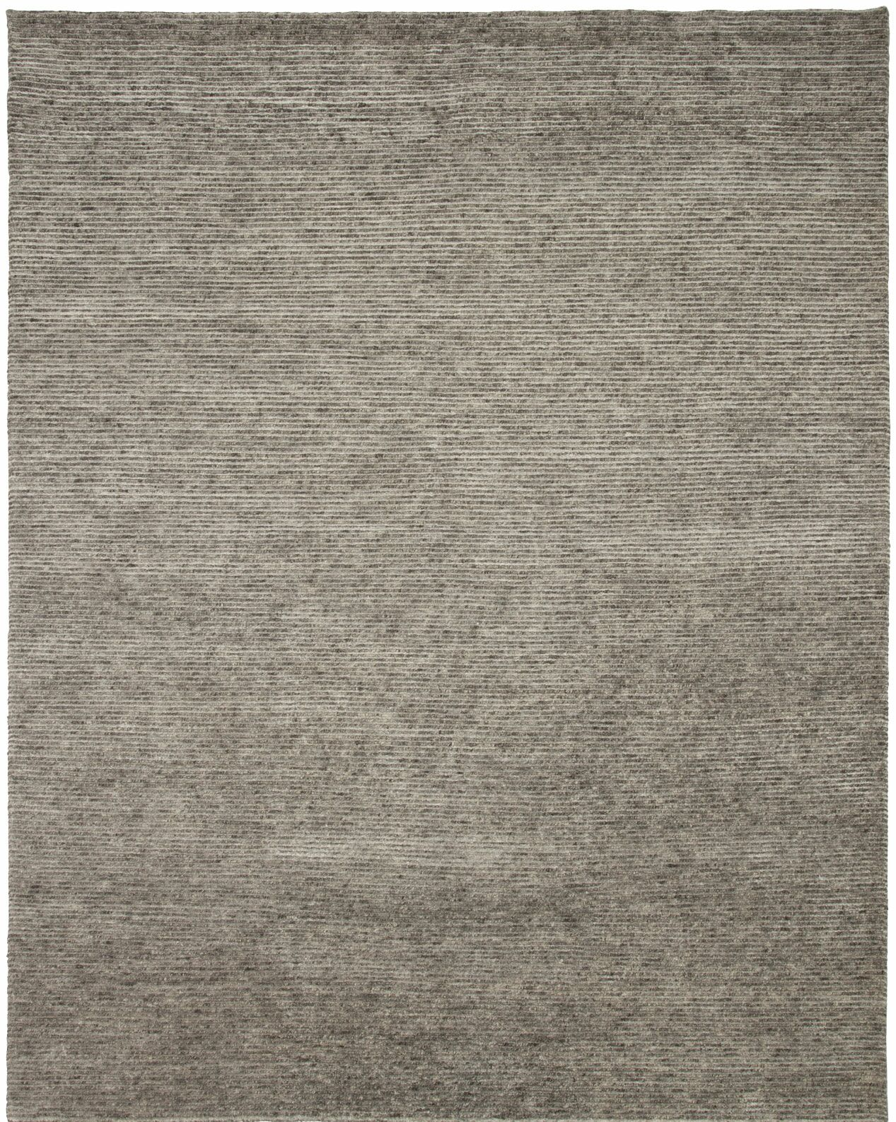 Horizon Hand-Knotted Gray Area Rug Rug Size: 8' x 10'