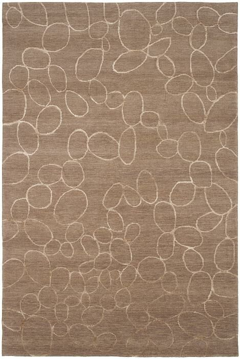 Broadway Hand-Knotted Brown Area Rug Rug Size: 2' x 3'