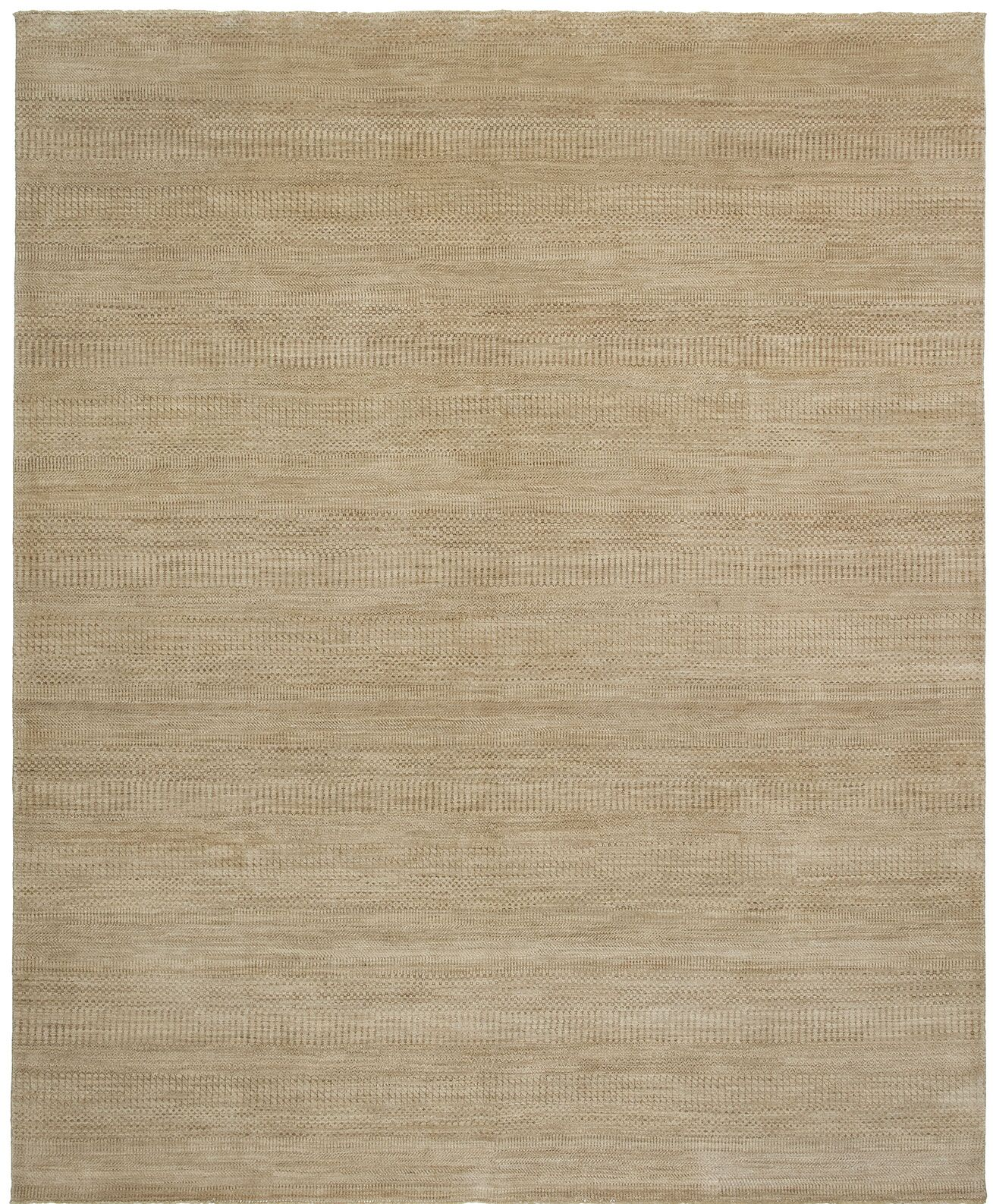 Illusions Hand-Knotted Beige Area Rug Rug Size: 9' x 12'
