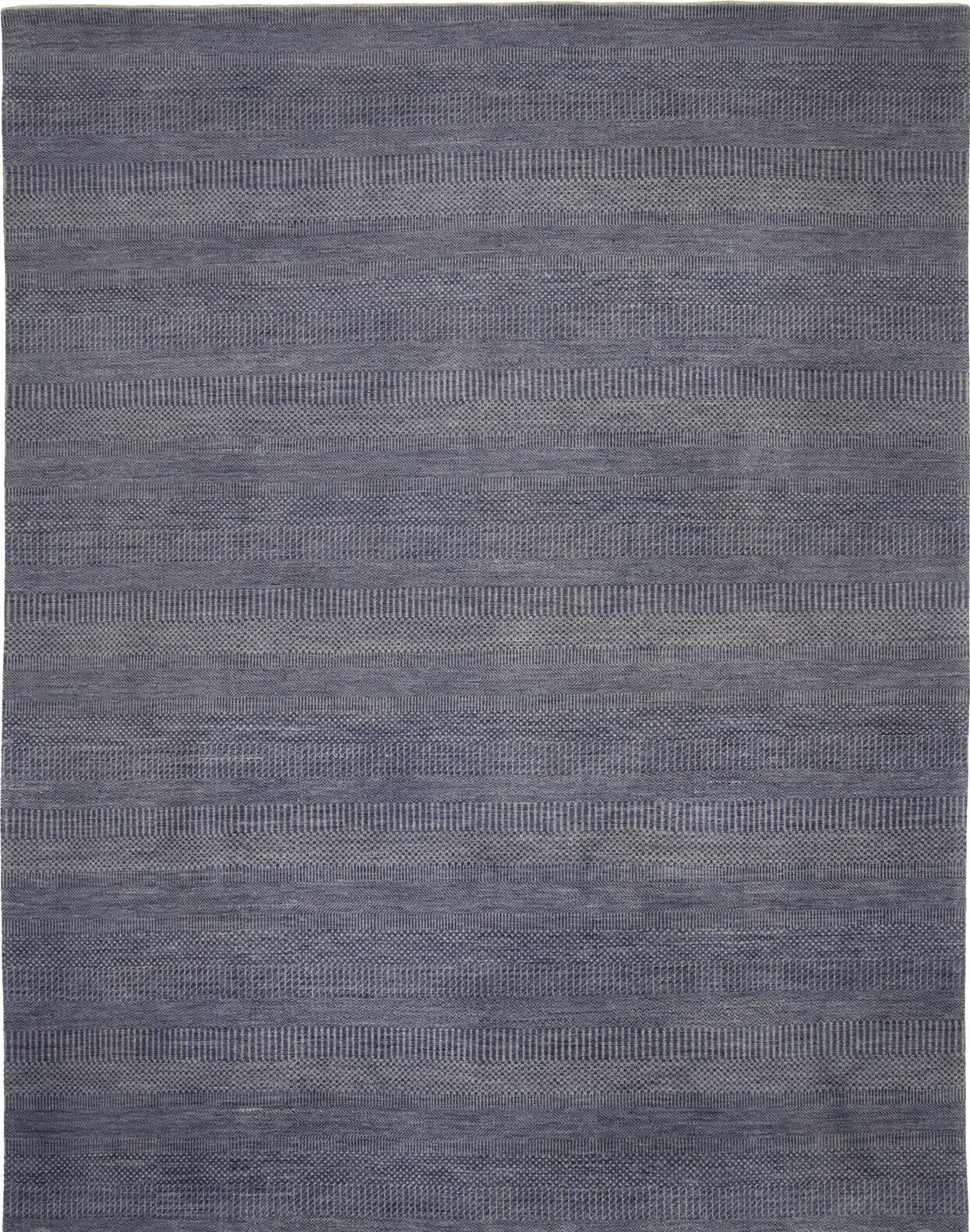 Illusions Hand-Knotted Blue Area Rug Rug Size: Runner 2'6
