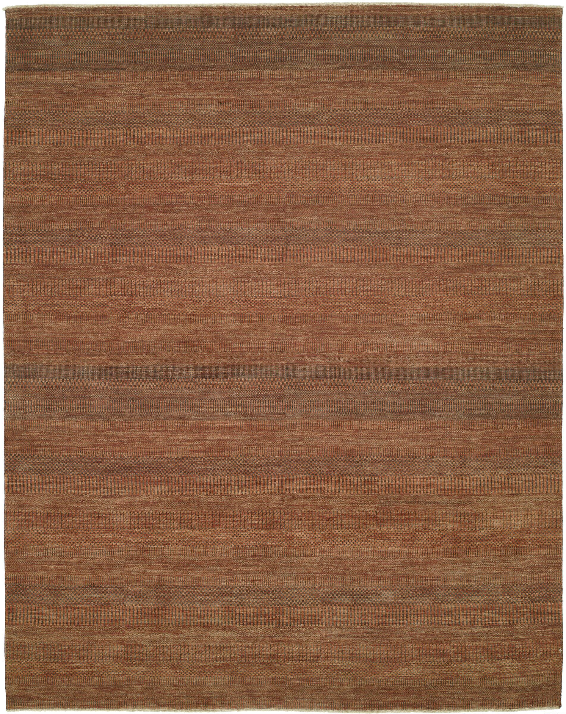 Illusions Rust/Dark Green Area Rug Rug Size: 9' x 12'