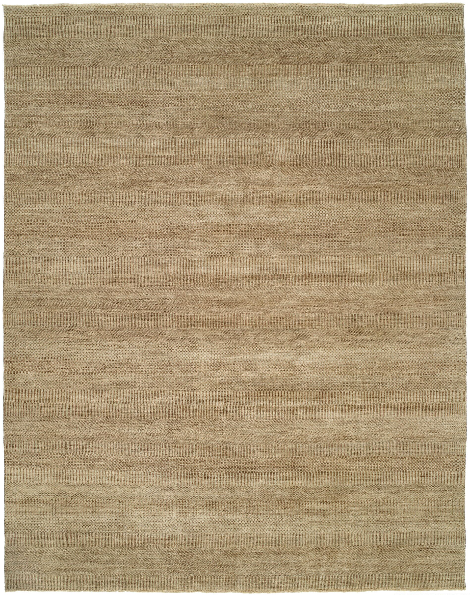 Illusions Grey/Light Brown Area Rug Rug Size: 4' x 6'