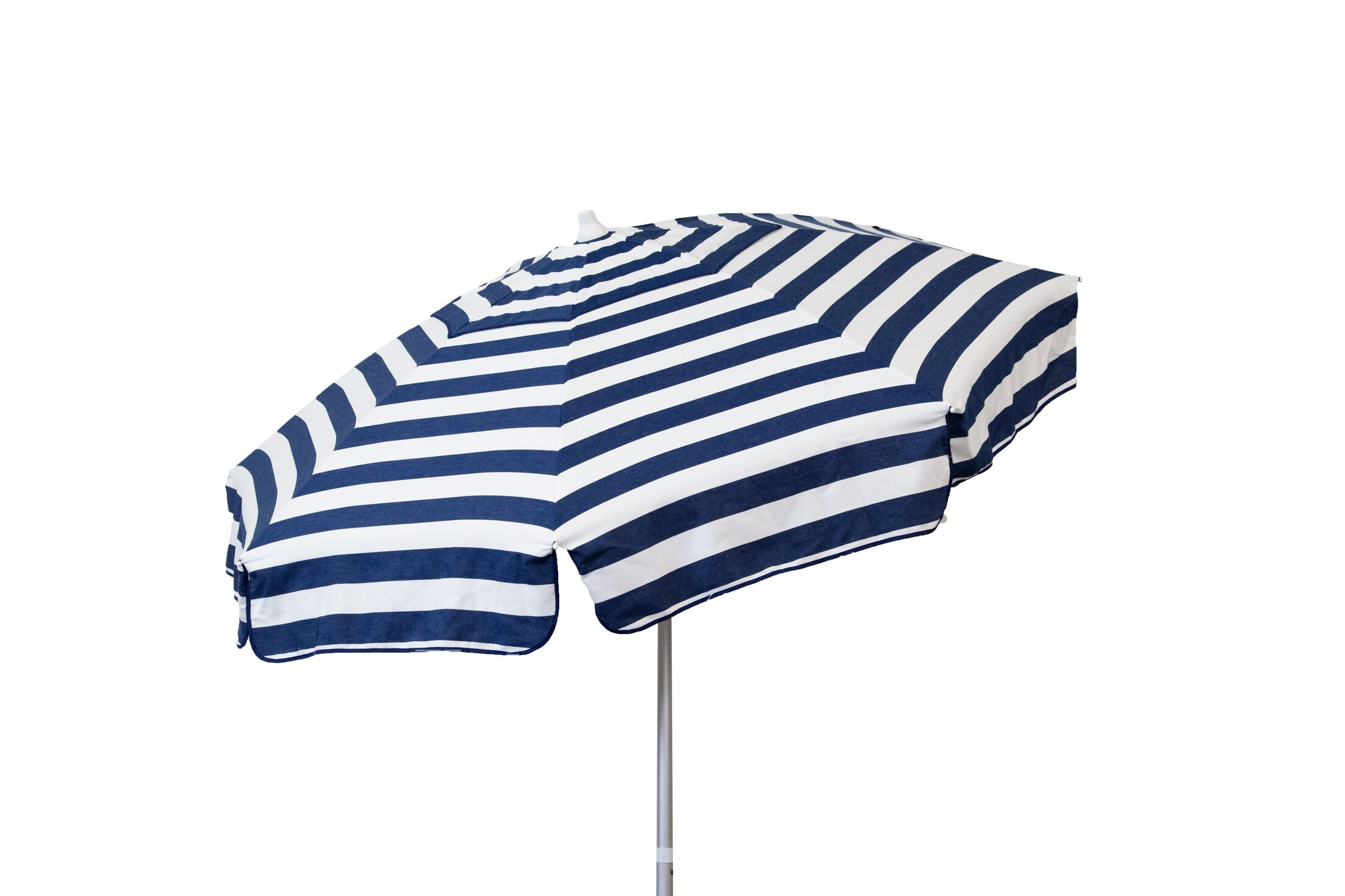 6' Beach Umbrella Color: Navy and White