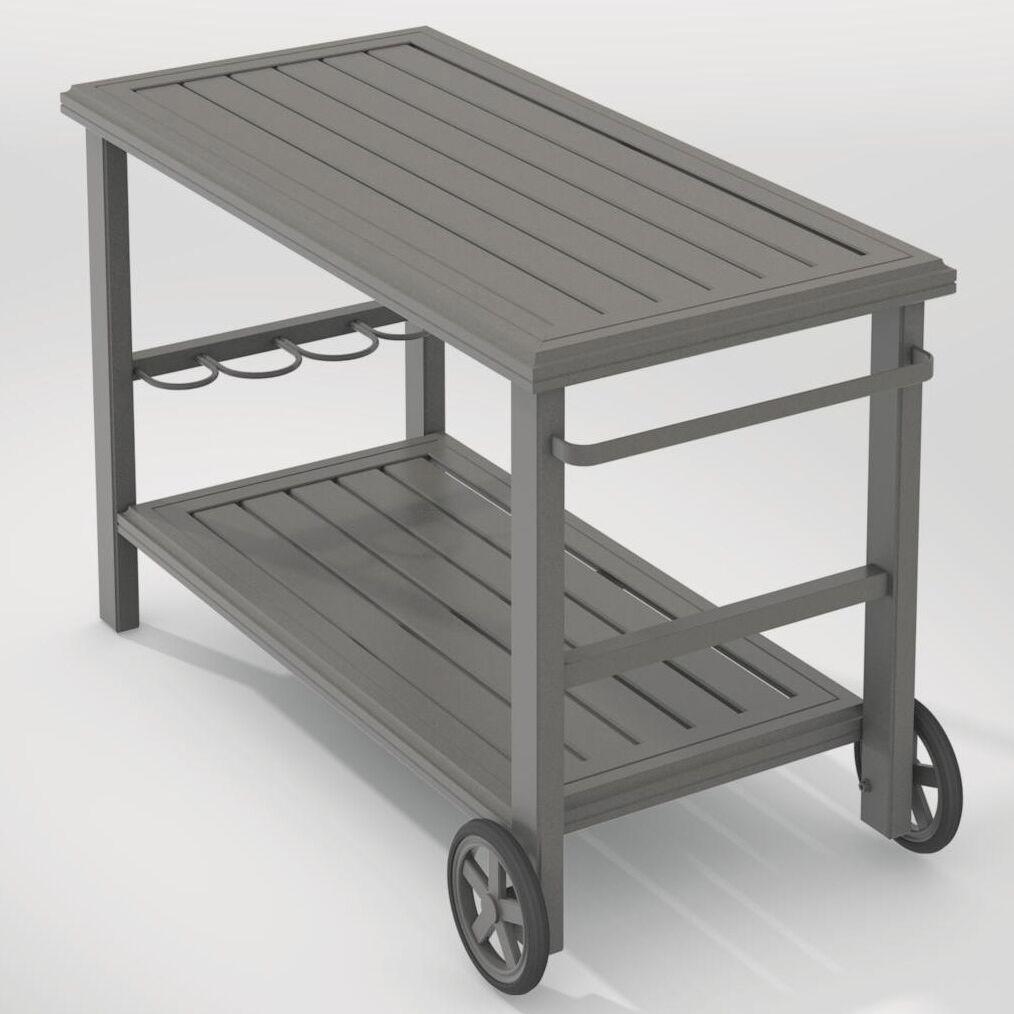 Banchetto Bar Serving Cart Frame Finish: Graphite