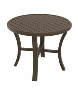 Banchetto Aluminum Dining Table Frame Color: Mocha, Size: 42