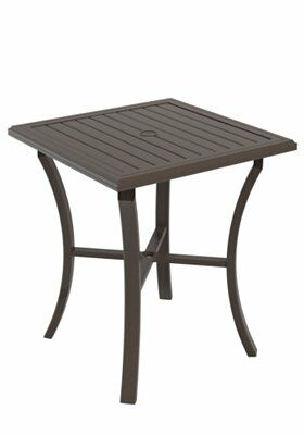 Banchetto Bar Table Frame Color: Obsidian