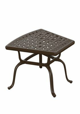 Garden Terrace Cast Aluminum Side Table Finish: Greco