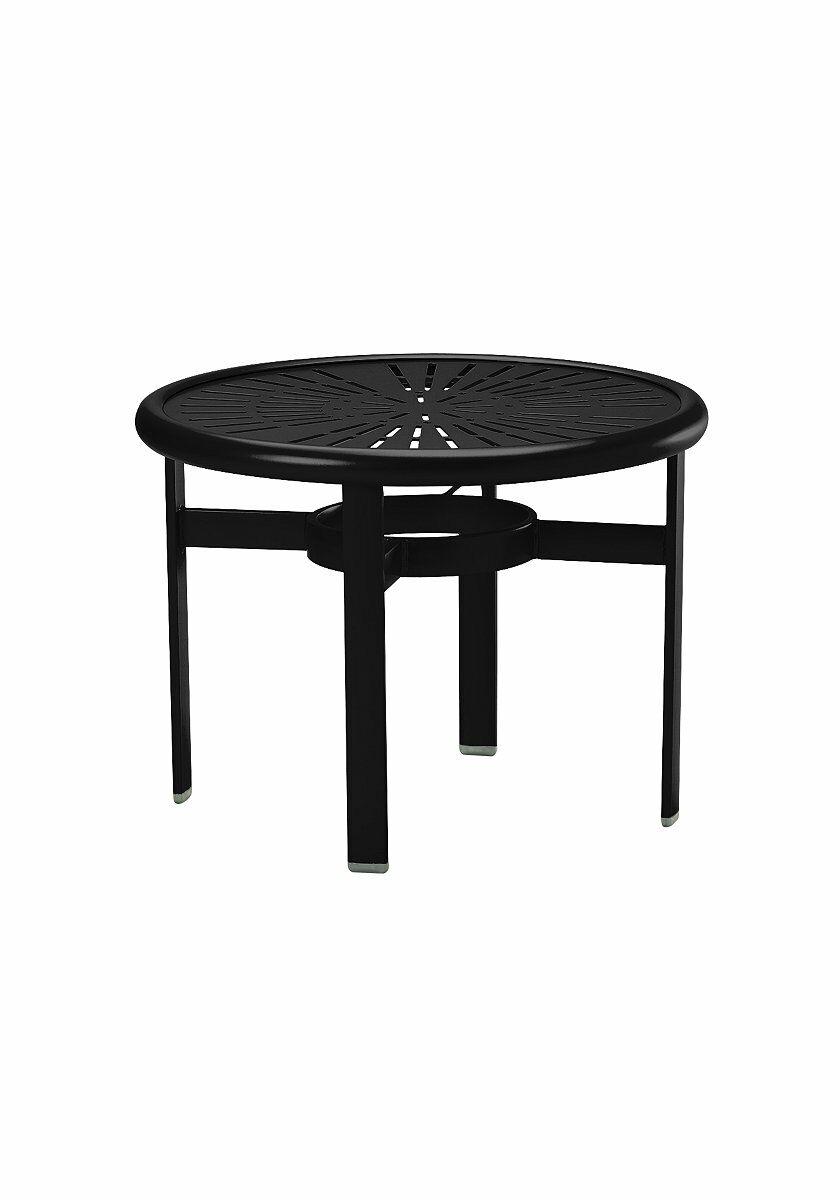 La'Stratta Aluminum Coffee Table Frame Color: Obsidian