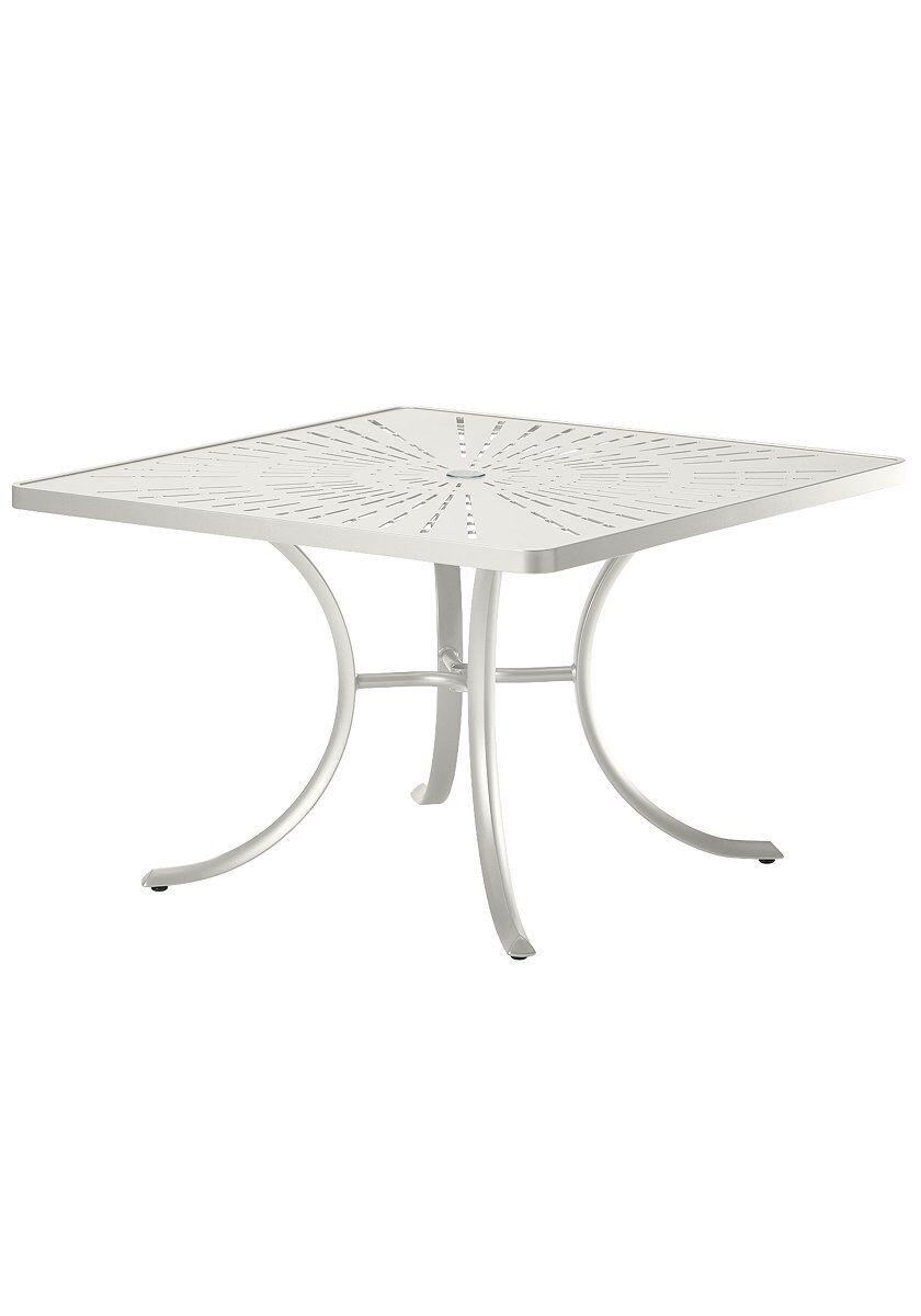La'Stratta Aluminum Dining Table Frame Color: Shell