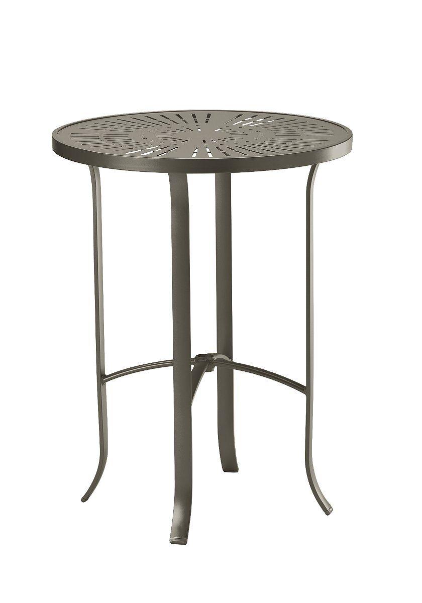 La'Stratta Aluminum Bar Table Frame Color: Mocha