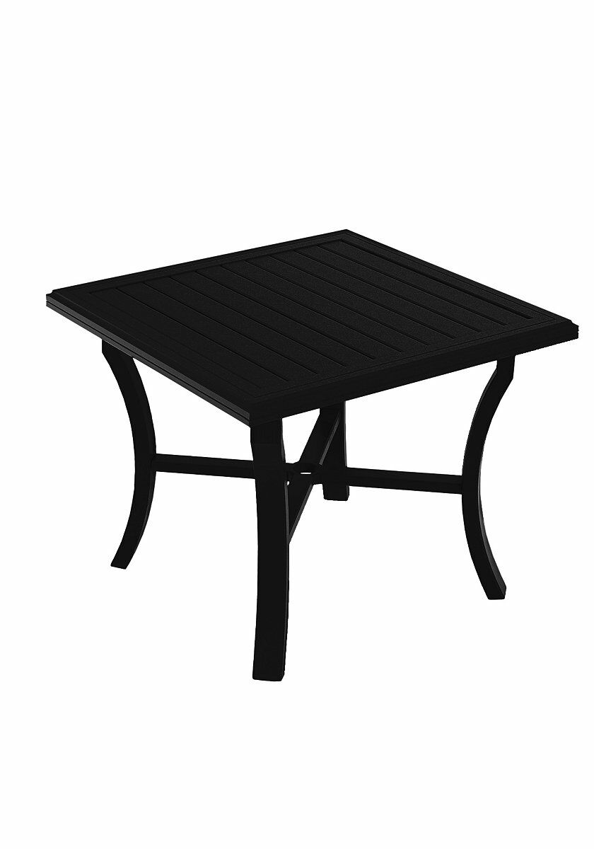 Banchetto Aluminum Dining Table Frame Color: Obsidian
