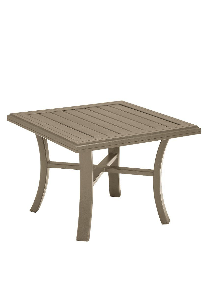 Banchetto Aluminum Side Table Frame Color: Moab