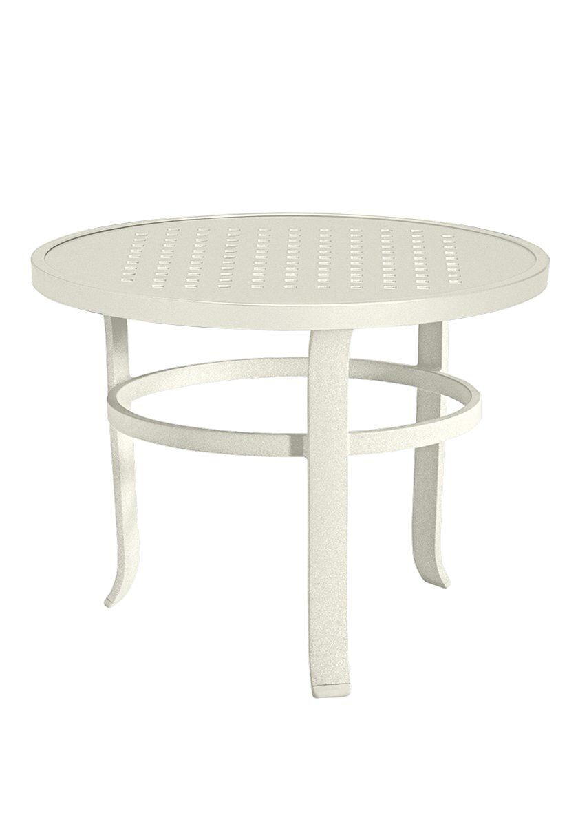 Features: -Round shape.-Boulevard collection.-Made in the USA.-Modern style.-Product Type: Coffee Table.-Outer Frame Material: Metal -Outer Frame Material Details: Aluminum.-Outer Frame Wood Construction Type Details: .-Outer Frame Wood Species: ..-Co...