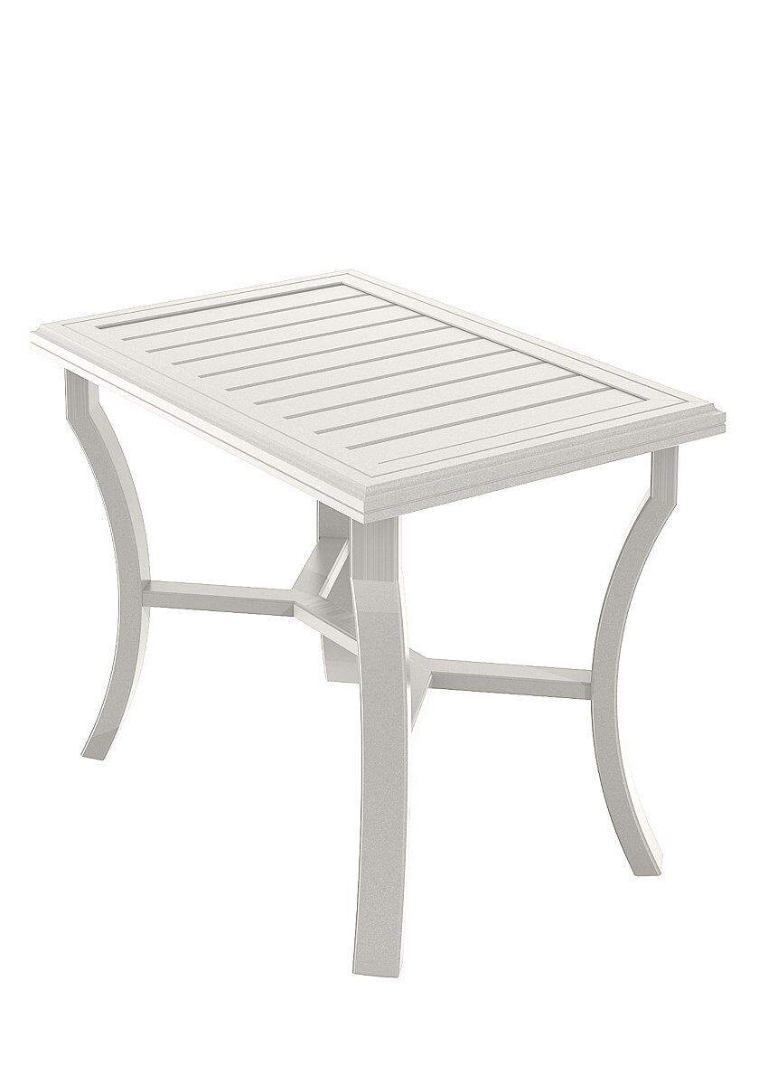 Banchetto Aluminum Bar Table Frame Color: Shell
