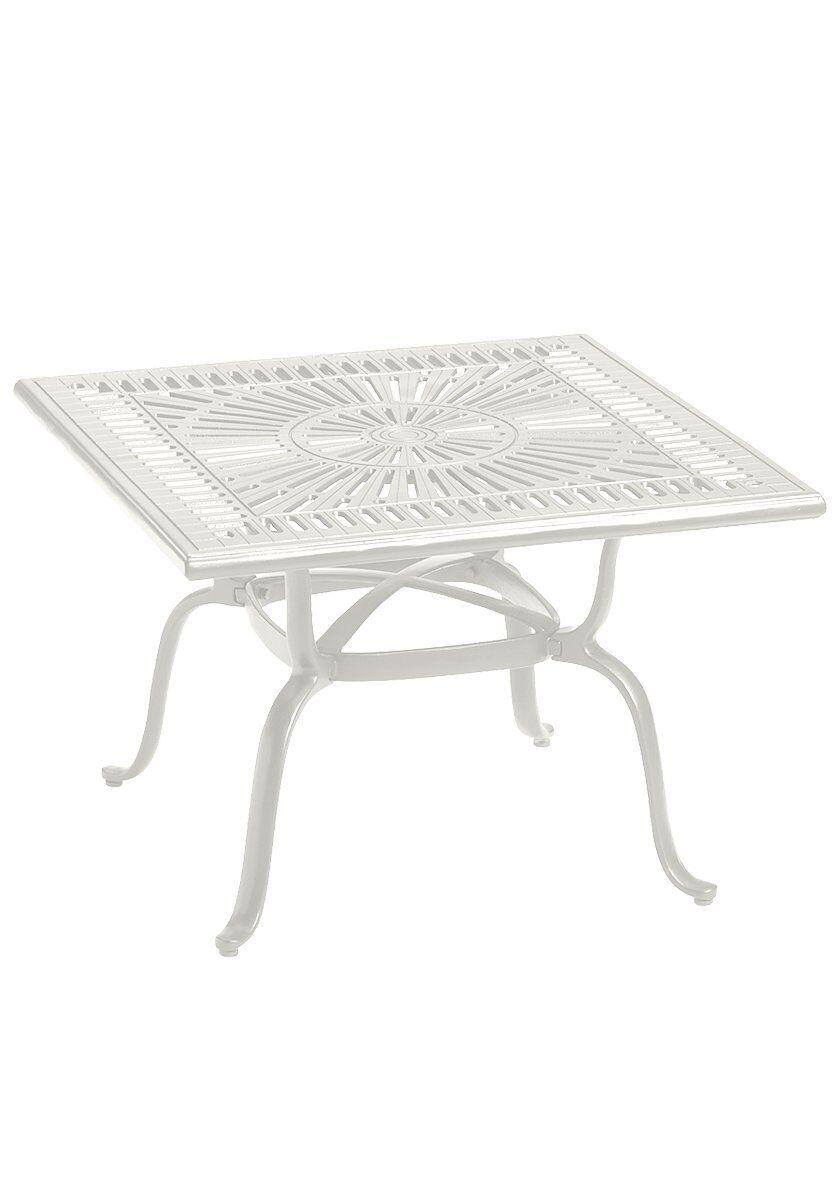 Cast Aluminum Bistro Table Frame Color: Shell
