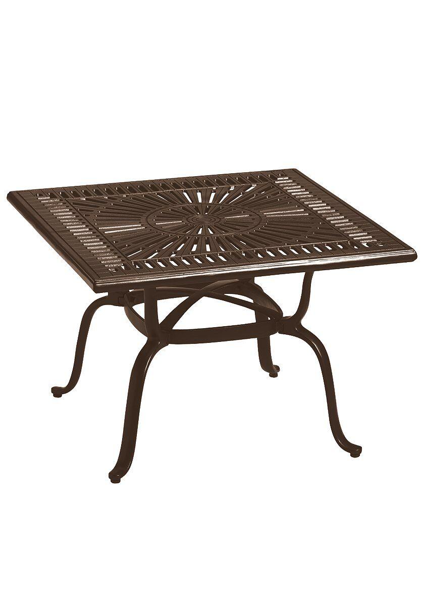 Cast Aluminum Bistro Table Frame Color: Greco