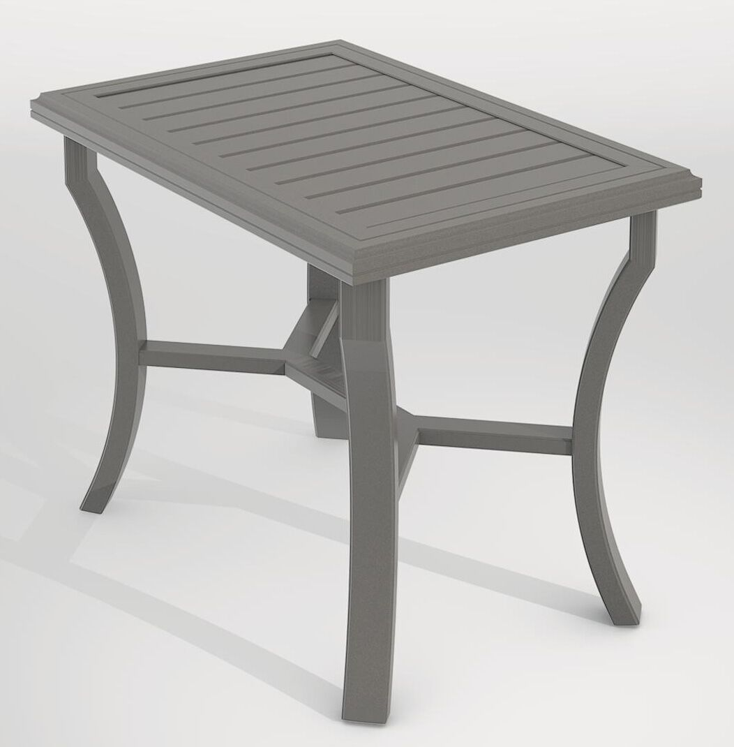 Banchetto Aluminum Bar Table Frame Color: Woodland