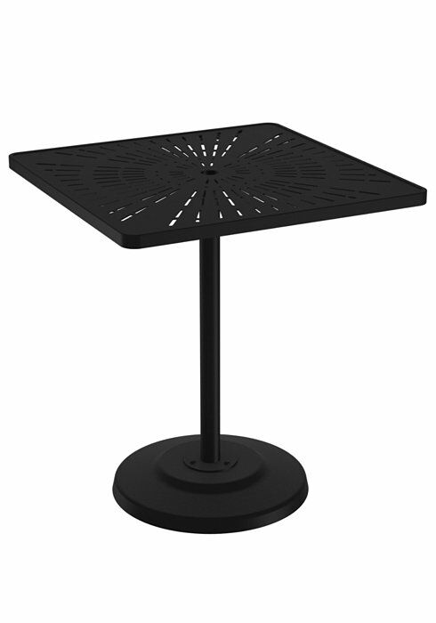 La'Stratta Aluminum Bar Table Frame Color: Woodland