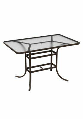 Bar Table Frame Color: Parchment