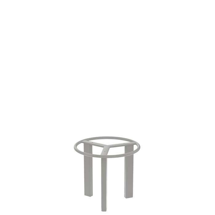 Side Table Base Frame Color: Shell