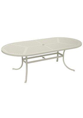 Boulevard Aluminum Dining Table Frame Color: Parchment