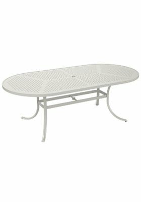 Boulevard Aluminum Dining Table Frame Color: Shell