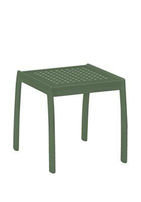 Boulevard Tea Aluminum Side Table Frame Color: Woodland