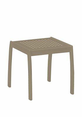 Boulevard Tea Aluminum Side Table Frame Color: Moab