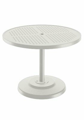 Boulevard Aluminum Dining Table Frame Color: Shell, Size: 36