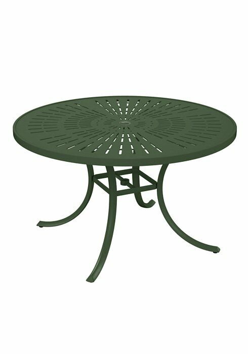 La'Stratta Aluminum Dining Table Frame Color: Woodland