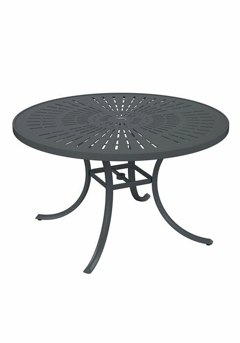 La'Stratta Aluminum Dining Table Frame Color: Graphite