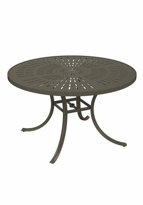La'Stratta Aluminum Dining Table Frame Color: Mocha