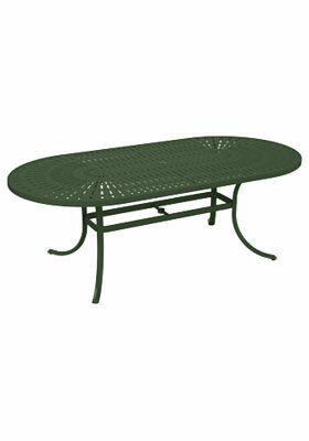La'Stratta Aluminum Dining Table Frame Color: Woodland