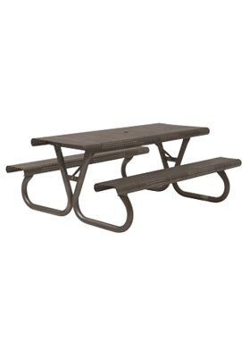Site Furnishings Aluminum Picnic Table Frame Color: Urban Bronze
