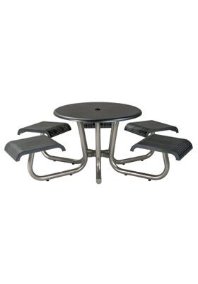 Site Furnishings Aluminum Picnic Table Frame Color: Urban Pewter