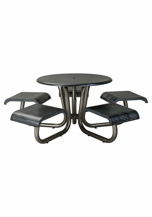 Site Furnishings Aluminum Picnic Table Frame Color: Urban Silver