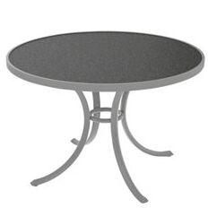 Raduno Round Aluminum Dining Table