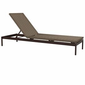 Cabana Club Reclining Chaise Lounge Finish: Shell