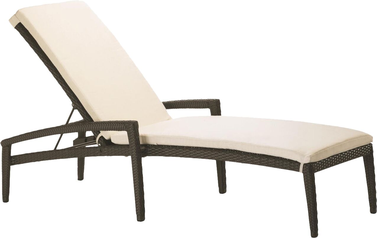 Evo Reclining Chaise Lounge with Cushion Woven: Kaffee Basket Weave, Fabric: Seagull