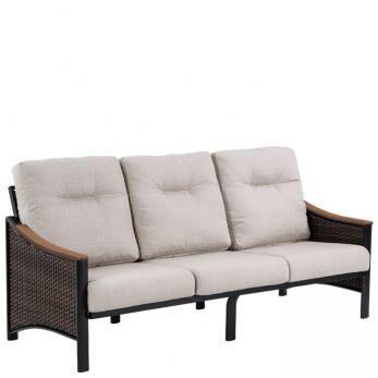Brazo Woven Patio Sofa with Cushions