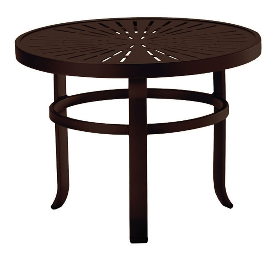 La'Stratta Aluminum Side Table Frame Color: Greco