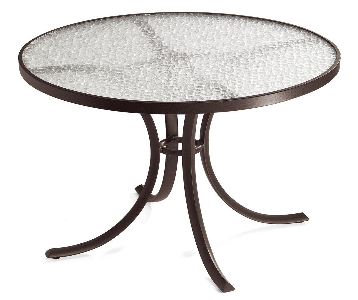 Cast Aluminum Dining Table Finish: Graphite