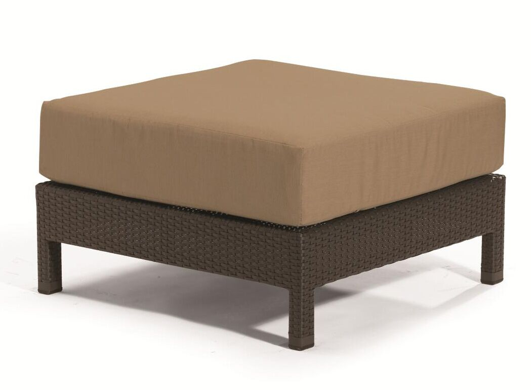 Evo Ottoman with Cushion Cushion Color: Cardamon, Woven: Kaffee Basket Weave