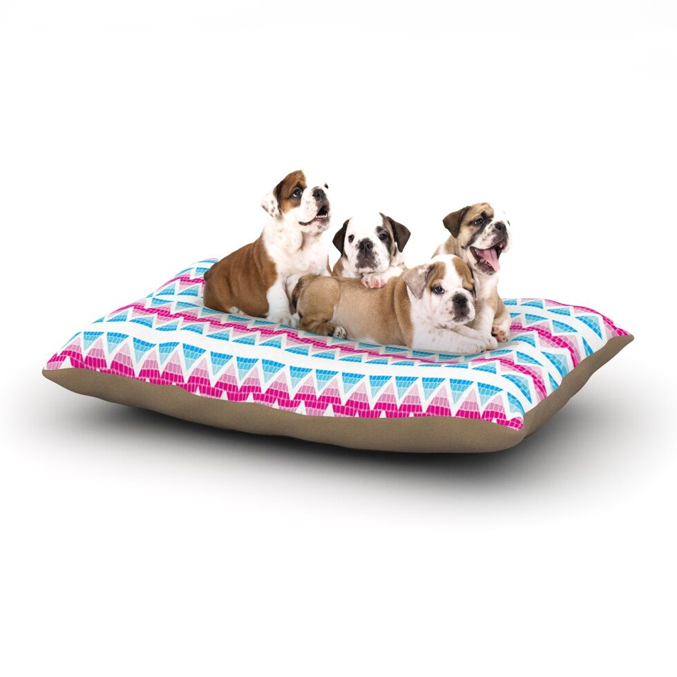 Apple Kaur Designs 'Swimming Pool Tiles' Dog Pillow with Fleece Cozy Top Size: Small (40