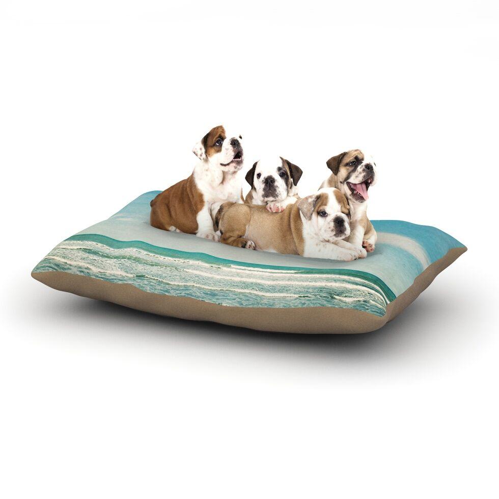 Susannah Tucker 'The Teal Ocean' Dog Pillow with Fleece Cozy Top Size: Small (40