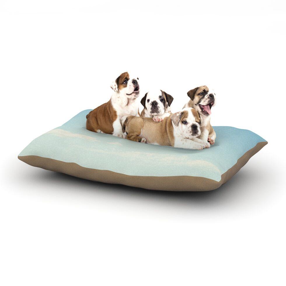 Susannah Tucker 'You Make Me Smile' Beach Sky Dog Pillow with Fleece Cozy Top Size: Small (40