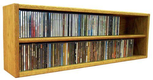 Multimedia Storage Rack Color: Honey Oak, Size: 12.75